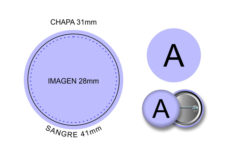 CHAPAS CH-31 IMPERDIBLE  NEUTRAS DESDE 0.05